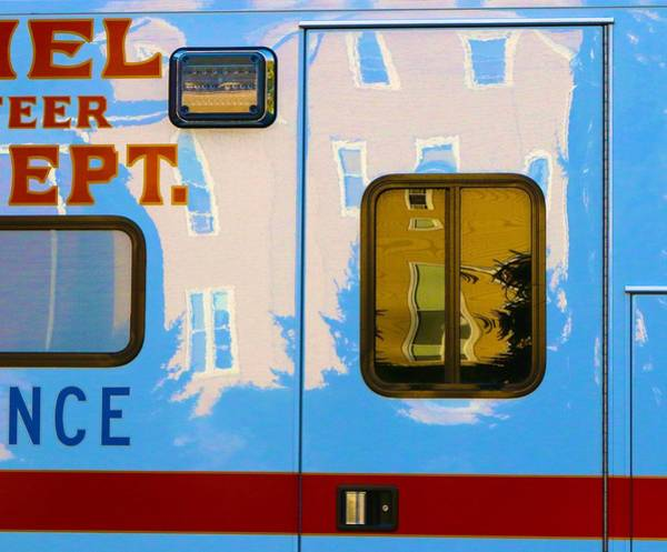Photograph - Ambulance Reflections by Polly Castor
