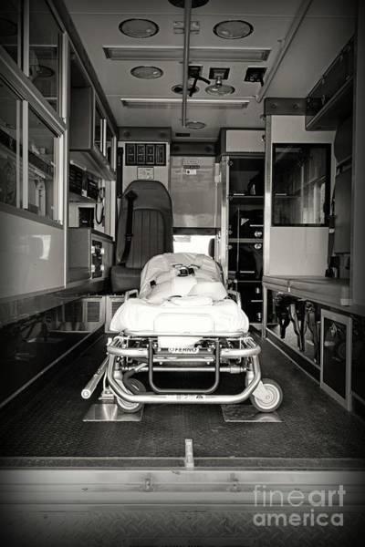 Wall Art - Photograph - Ambulance The Gurney  by Paul Ward