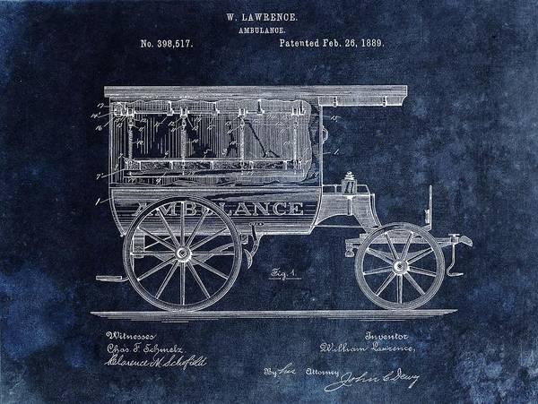 Drawing - Ambulance Wagon Patent by Dan Sproul