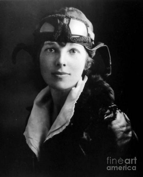 Heroine Photograph - Amelia Earhart, American Aviatrix by Science Source