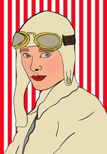 Dope Mixed Media - Amelia Earhart by Nicole Wilson