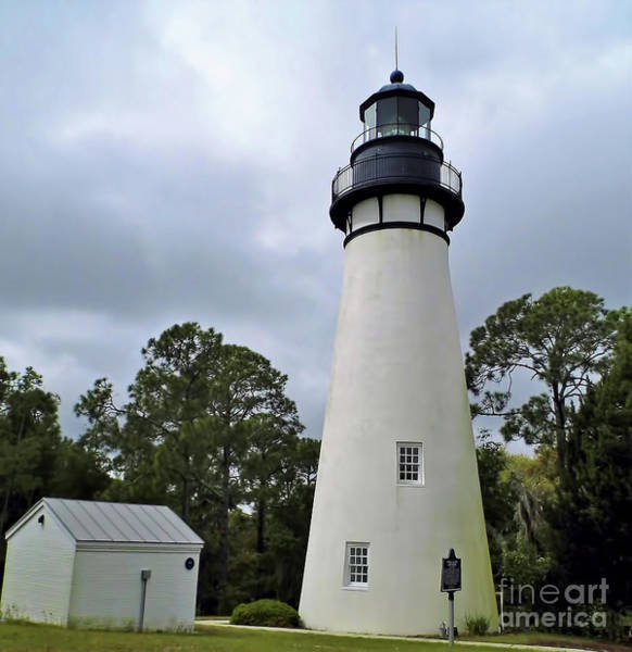 Photograph - Amelia Island Lighthouse  by D Hackett