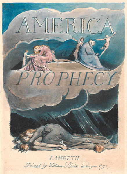 William Blake Drawing - America. A Prophecy. Plate 2 by William Blake