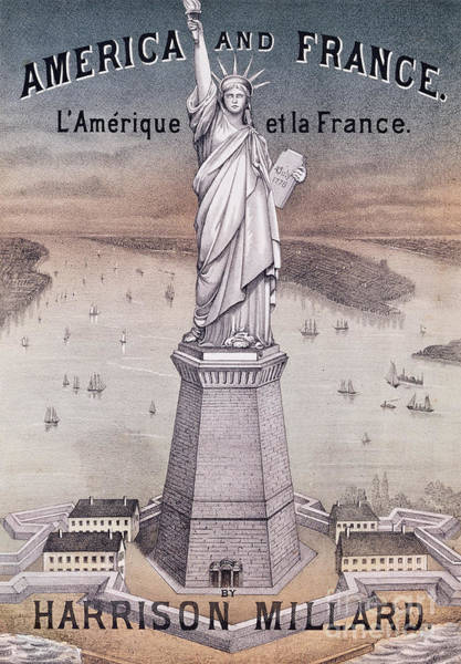 Friendship Drawing - America And France by American School