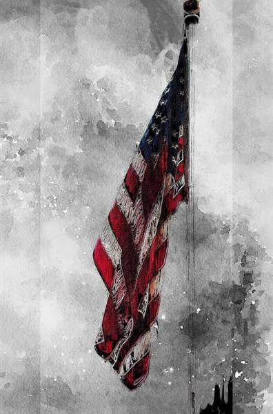 Wall Art - Painting - America First by Steve K