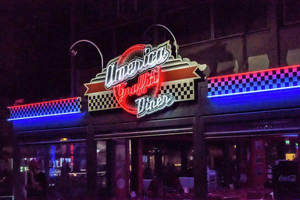 Photograph - America Graffiti Diner by Randy Scherkenbach