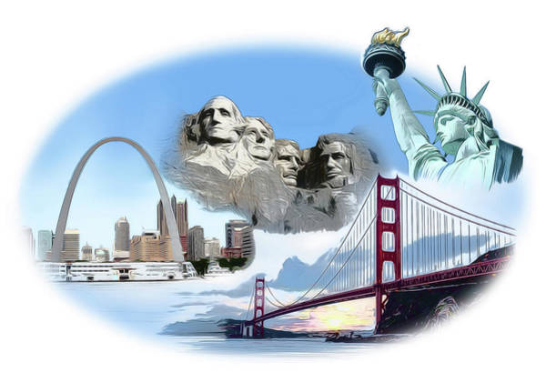 Iconic Digital Art - America by Greg Joens