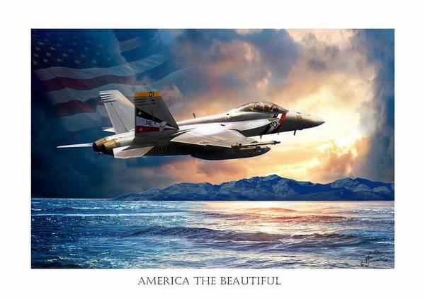 Wall Art - Painting - America The Beautiful by Regina Femrite