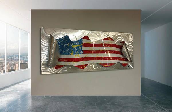 Wall Art - Sculpture - America Wave Edition X by Mac Worthington