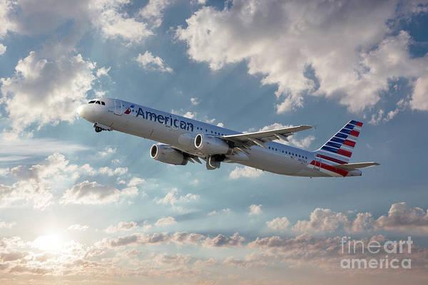 Lax Digital Art - American Airlines A321-231 N917uy by J Biggadike