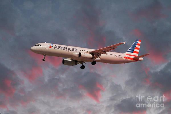 Wall Art - Digital Art - American Airlines Airbus A321-231 by J Biggadike