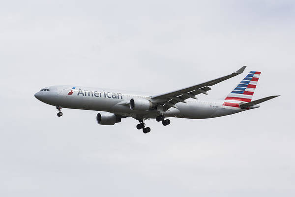 Wall Art - Photograph - American Airlines Airbus A330 by David Pyatt