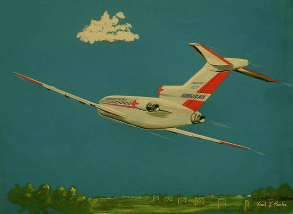 American Airlines Boeing 727 Art Print