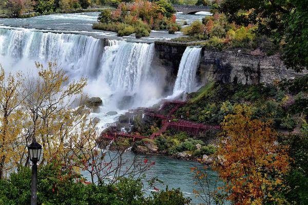 Southern Ontario Photograph - American And Bridal Veil Falls by Maria Keady