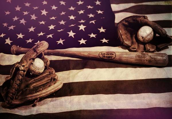 Wall Art - Photograph - American Baseball Grunge by Dan Sproul
