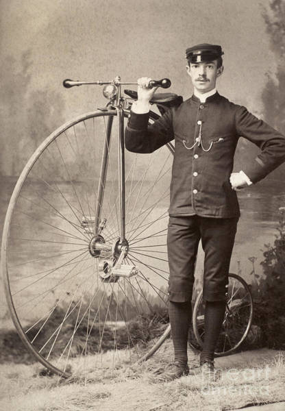 Photograph - American Bicyclist, 1880s by Granger