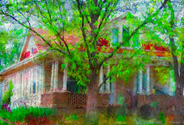 Photograph - American Bungalow In Spring by Anna Louise