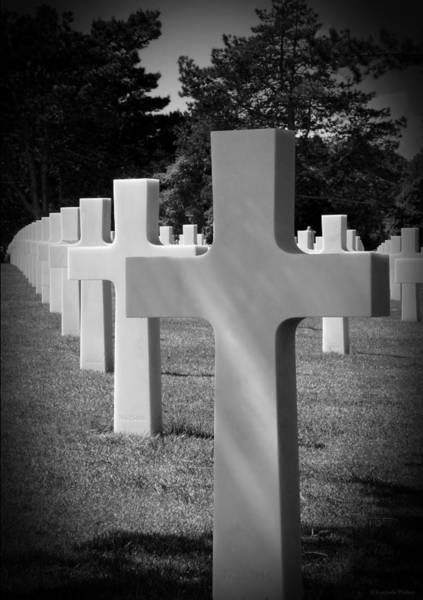 Photograph - American Cemetery Remember D Day June 6 1944 by Lucinda Walter
