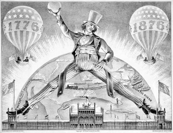 Drawing - American Centennial, 1876.  by Granger