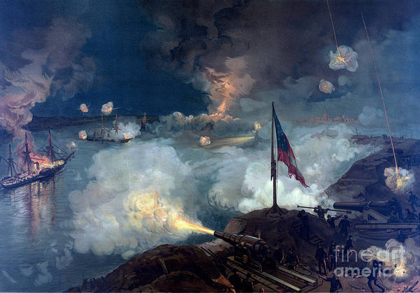 The Southern Company Photograph - American Civil War Siege Of Port by Science Source