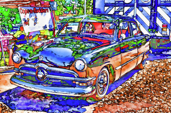 Custom Truck Painting - American Classic Car 11 by Jeelan Clark