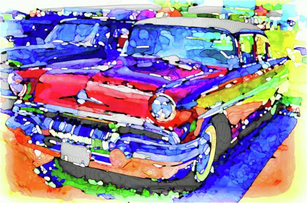 Custom Truck Painting - American Classic Car 12 by Jeelan Clark