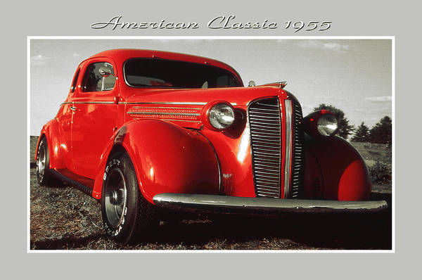 Photograph - Red American Classic Car 1955 - Automobile Poster by Peter Potter