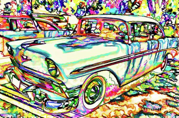 Custom Truck Painting - American Classic Car 7 by Jeelan Clark