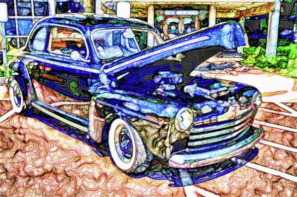 Custom Truck Painting - American Classic Car 8 by Jeelan Clark