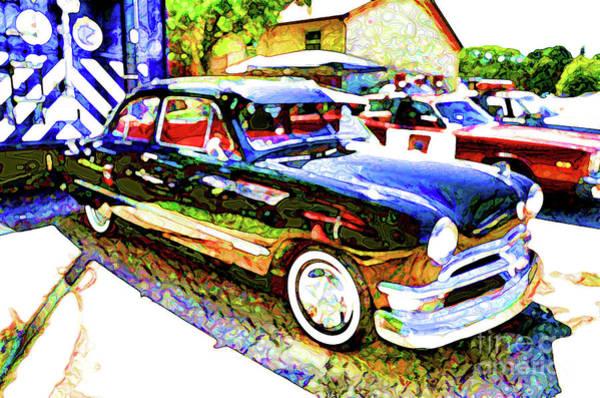 Custom Truck Painting - American Classic Car 9 by Jeelan Clark