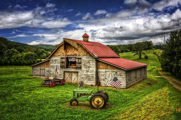 Wall Art - Photograph - American Country Barn by Debra and Dave Vanderlaan