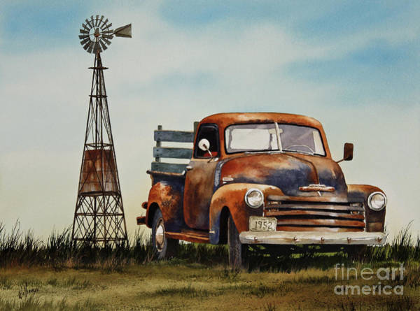 Old Chevy Truck Painting - American Country by James Williamson
