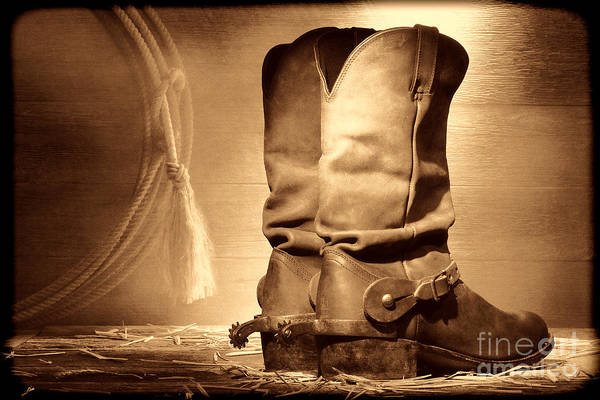 Photograph - American Cowboy Boots by American West Legend By Olivier Le Queinec