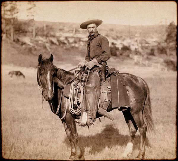 Sturgis Wall Art - Photograph - American Cowboy Classic C. 1888 by Daniel Hagerman