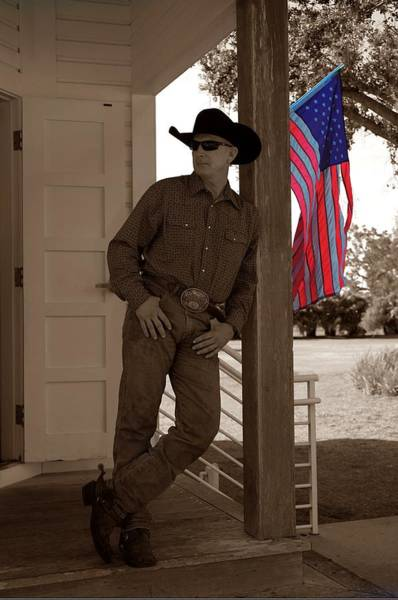 Photograph - American Cowboy by Don Columbus