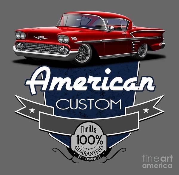 Wall Art - Digital Art - American Custom Impala by Paul Kuras
