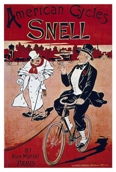 Wall Art - Mixed Media - American Cycles Snell - Bicycle - Vintage Advertising Poster by Studio Grafiikka
