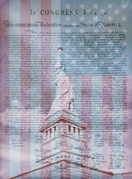 Revolutionary War Mixed Media - American Declaration Of Independence by Dan Sproul