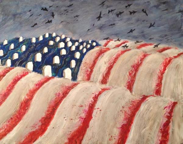 Trump Cartoon Painting - American Democracy Under Siege by David Gartenberg
