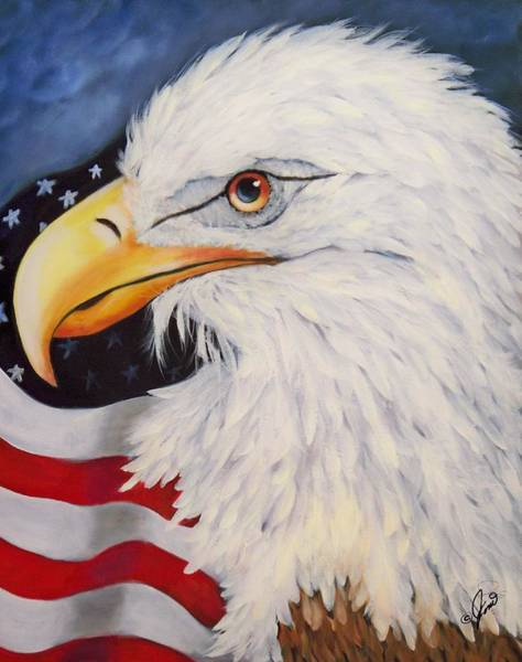 Painting - American Eagle by Joni McPherson