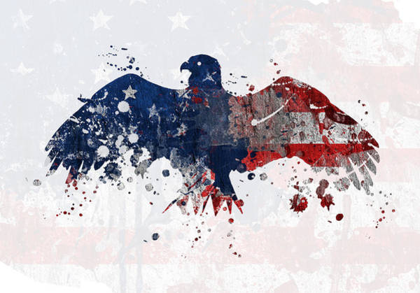 Work Of Art Digital Art - American Eagle  by Mark Ashkenazi