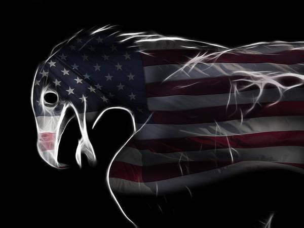 Majestic Digital Art - American Eagle by Melanie Viola