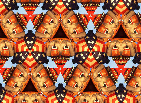 Digital Art - American Elections 2016 - Hillary Clinton, Donald Trump, Robert Mueller by Peter Potter