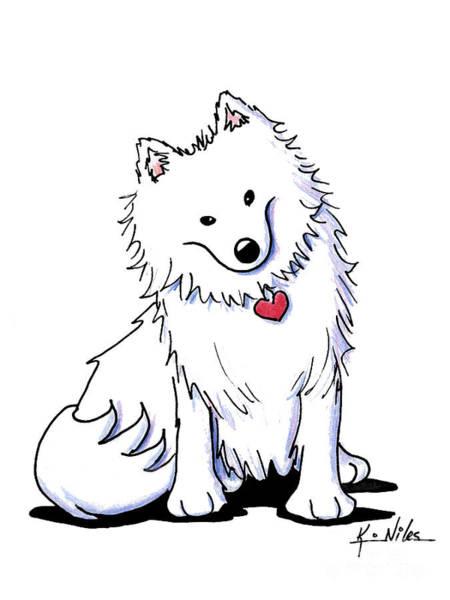 Samoyed Dog Drawings Fine Art America