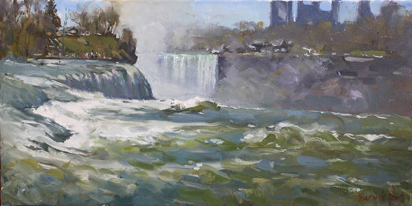 Wall Art - Painting - American Falls by Ylli Haruni