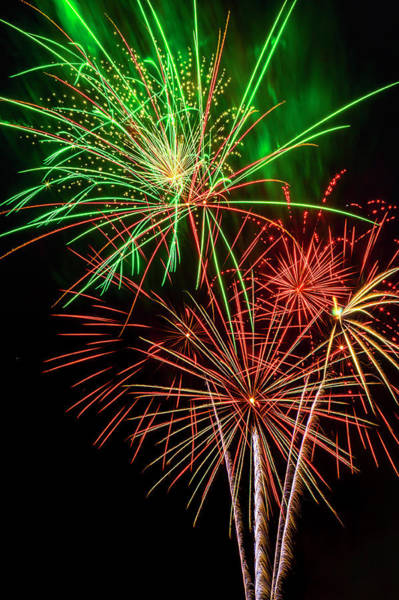 Dazzle Wall Art - Photograph - American Fireworks by Garry Gay