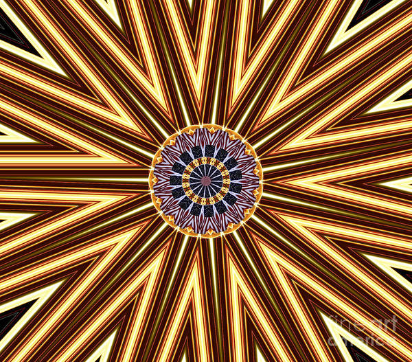 Photograph - American Flag And Fireworks Kaleidoscope Abstract 1 by Rose Santuci-Sofranko