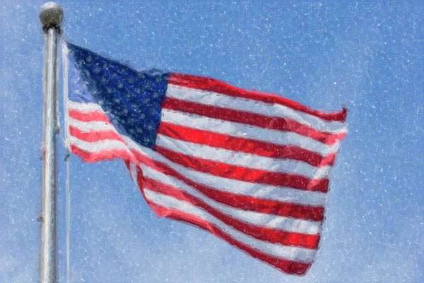 Digital Art - American Flag Artwork by Jill Lang