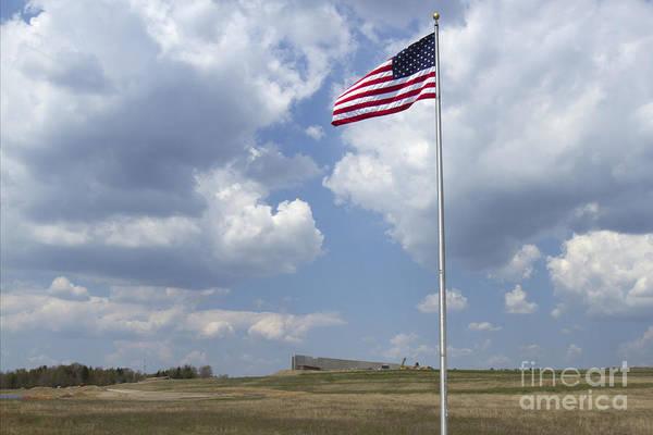 Somerset County Photograph - American Flag At Flight 93 Memorial by Karen Foley