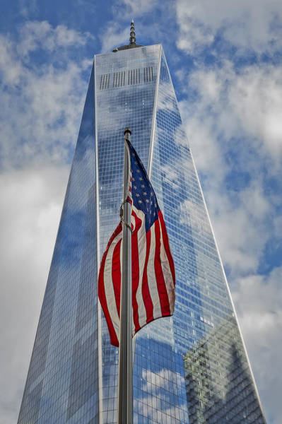 Photograph - American Flag At World Trade Center Wtc by Susan Candelario
